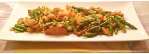 Vegetarian stir-fry featuring asparagus