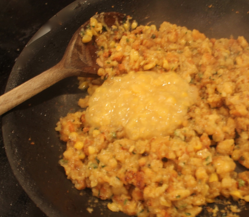 Stuffing with creamed corn