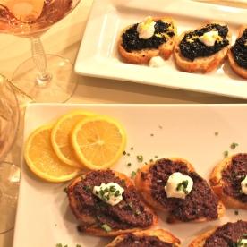 Caviar crostini
