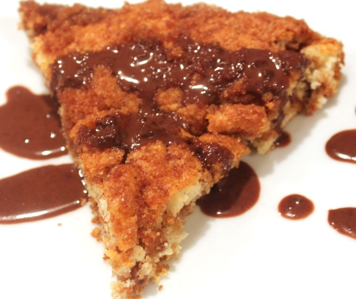 Streusel coffe cake w Ganache Icing