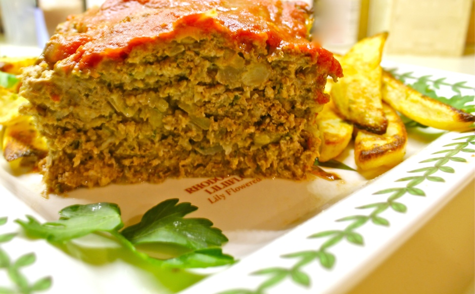 Meatloaf with tomato sauce