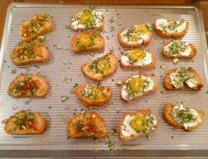 Demi baguette garlic slices