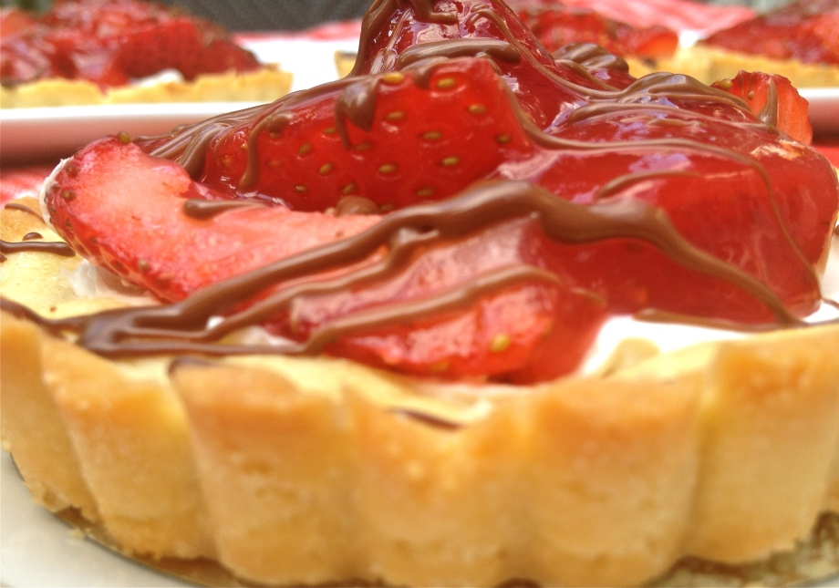 French Glace Strawberry Tarts