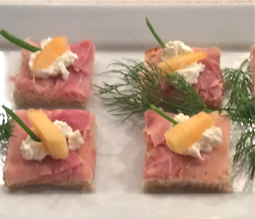 Prosciutto and Melon Squares