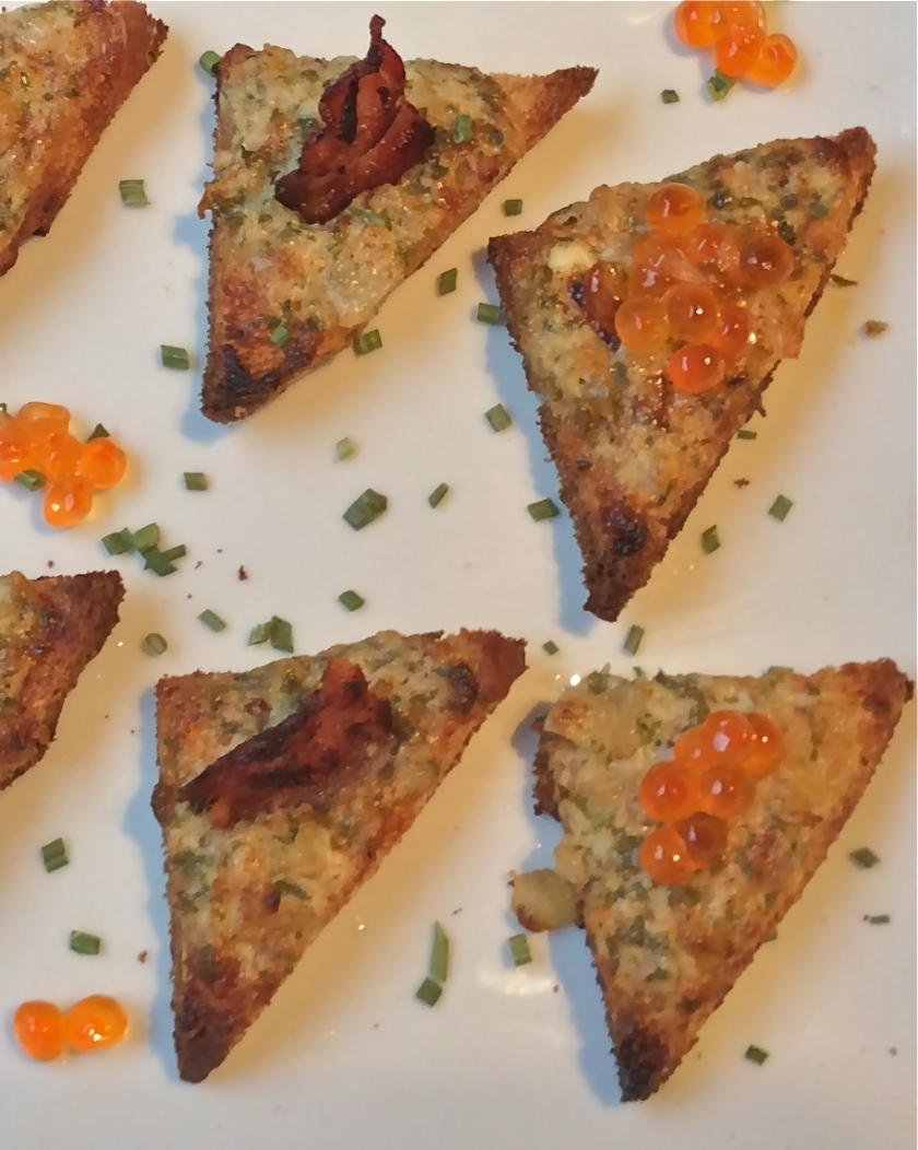 Onion and Parmesan Toasts