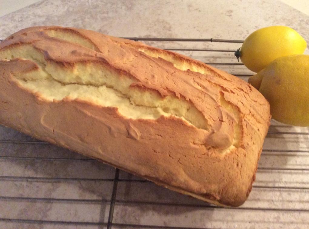 Lemon Loaf on cooling rack