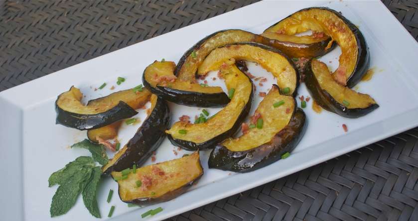 Roasted Acorn Squash with Cognac Glaze