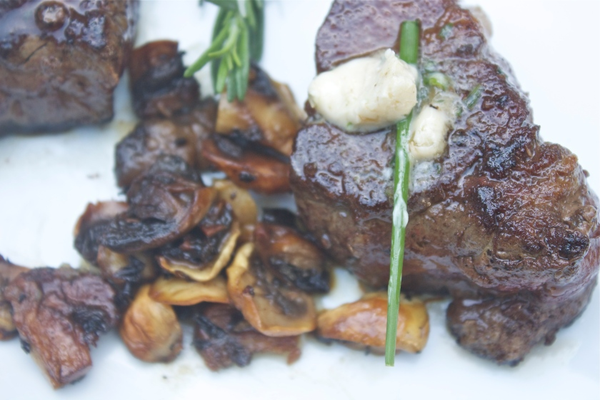 Filet Mignon with Herb Butter Buttons