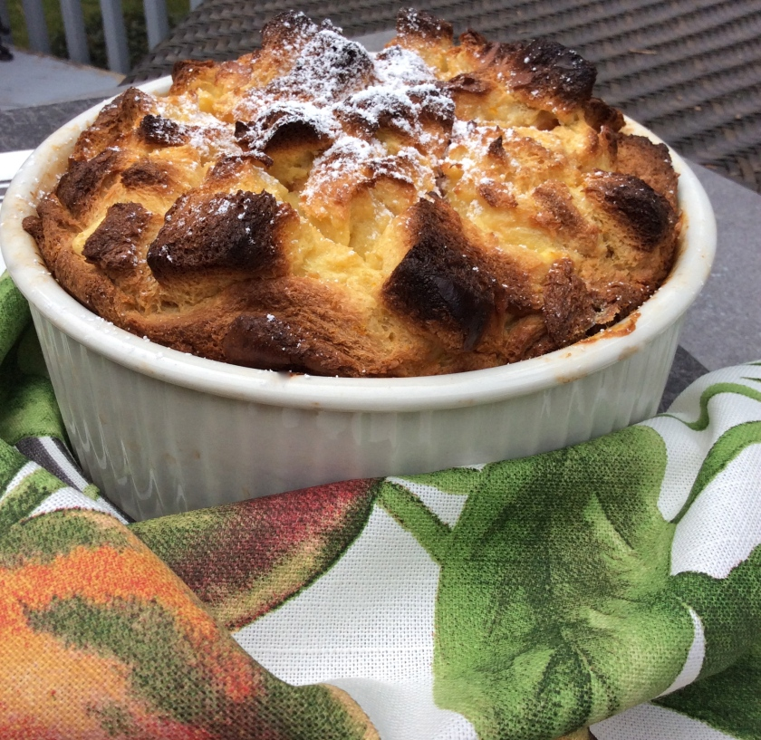 French Bread Pudding Souffle with Grand Marnier