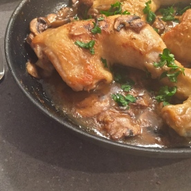 Chicken with Cognac and Mushrooms
